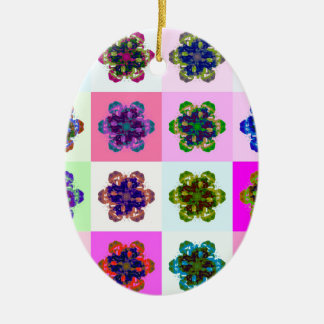 New Tulips Mandala pop Art Christmas Ornament