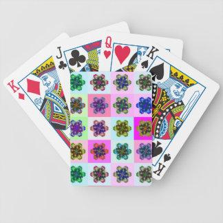 New Tulips Mandala pop Art Poker Deck
