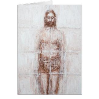 New Turin Shroud (Contemporary Realism Jesus) Greeting Card