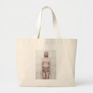 New Turin Shroud (Contemporary Realism Jesus) Jumbo Tote Bag