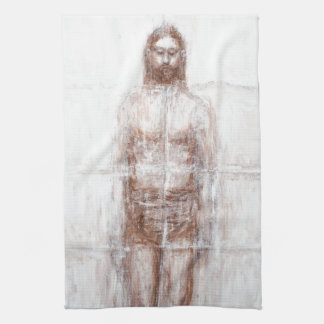 New Turin Shroud (Contemporary Realism Jesus) Tea Towel