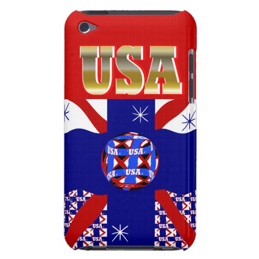 New USA Sports Soccer iPod Case Gift iPod Touch Case-Mate Case