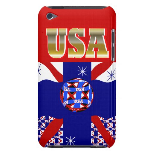 New USA Sports Soccer iPod Case Gift Barely There iPod Covers