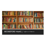 New Used Bookstore Library - Book Shelves Picture Pack Of Standard Business Cards