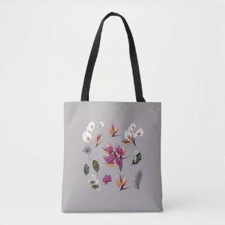 New vintage floral elegant ladies bag / Grey