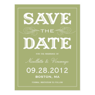 NEW VINTAGE SAVE THE DATE ANNOUNCEMENT POST CARD