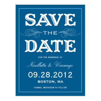 NEW VINTAGE SAVE THE DATE ANNOUNCEMENT POST CARDS