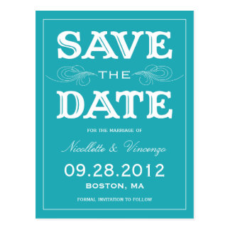 NEW VINTAGE | SAVE THE DATE ANNOUNCEMENT POSTCARDS