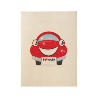 New wooden Poster with red Auto Wood Poster