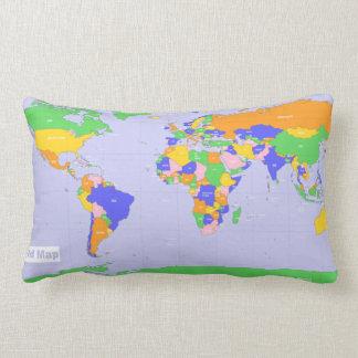 New World Map Lumbar Cushion
