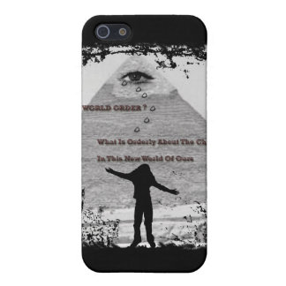 """NEW WORLD ORDER ?""* CASE FOR THE iPhone 5"