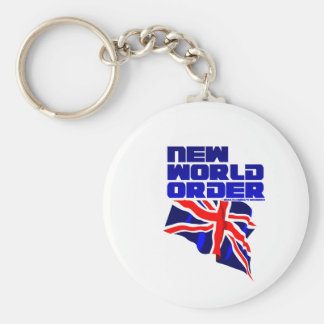 New World Order Basic Round Button Key Ring