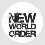 New World Order Round Sticker