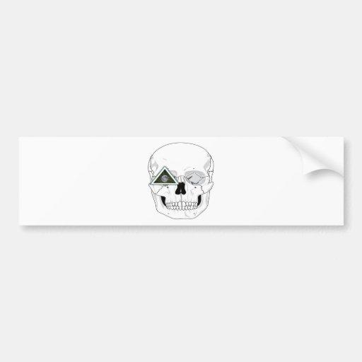 New World Order Skull Design Bumper Stickers