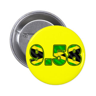 New World Record 100m 9.58 Athletics Gear Buttons