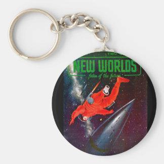 New Worlds 19_Pulp Art Basic Round Button Key Ring