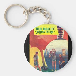 New Worlds 54_Pulp Art Basic Round Button Key Ring
