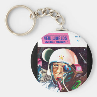 New Worlds 57_Pulp Art Basic Round Button Key Ring