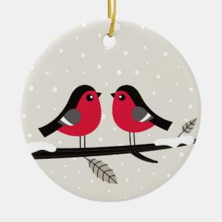 New xmas ornament with 2 Love birds