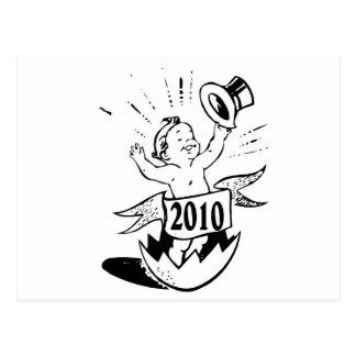 New Year 2010 Baby Postcard