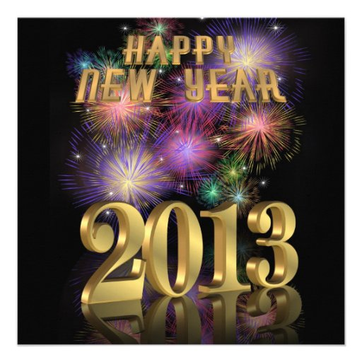 New Year 2013 Party Invitation fireworks | Zazzle.co.uk