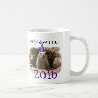 New Year 2016 - Cute Prairie Dog Party Basic White Mug