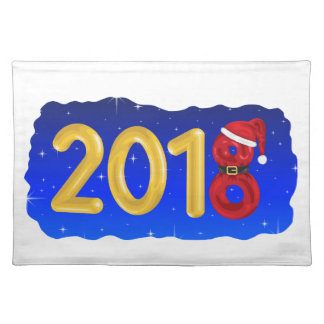New Year 2018 Cartoon Placemat