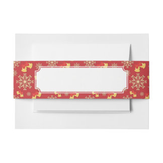 New Year and Christmas background Invitation Belly Band