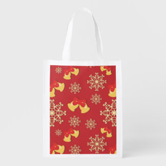 New Year and Christmas background Reusable Grocery Bag