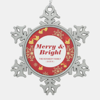 New Year and Christmas background Snowflake Pewter Christmas Ornament