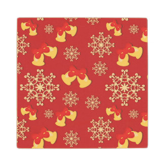 New Year and Christmas background Wood Coaster