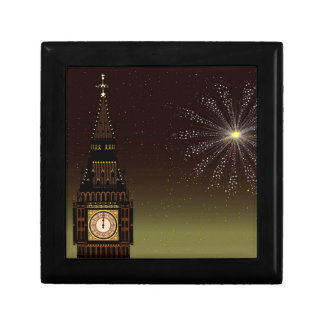 New Year And Fireworks Gift Box