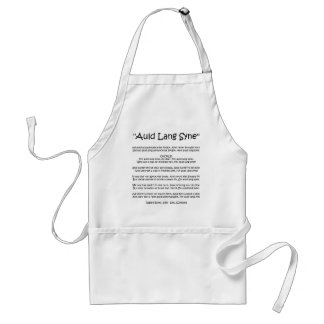 """New Year """"Auld Lang Syne"""" Apron"""