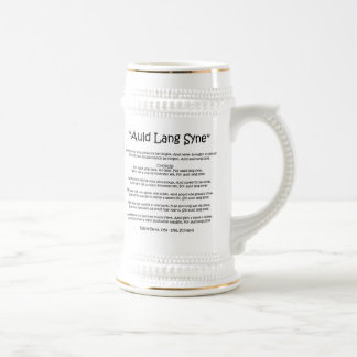"New Year ""Auld Lang Syne"" Stein Beer Steins"