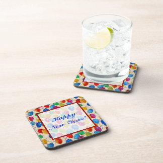 New Year Balloons Beverage Coaster