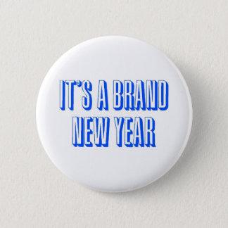 New Year Banner 6 Cm Round Badge