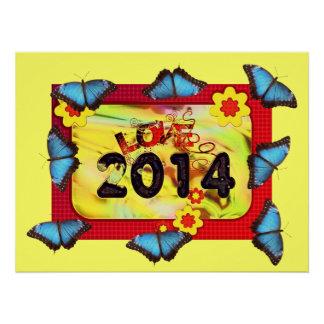 New-Year Butterfly Pattern Office Peace Destiny