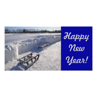 New Year Card Photo Card Template