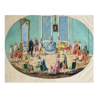New Year celebration in Vienna in 1782, 1783 Postcard