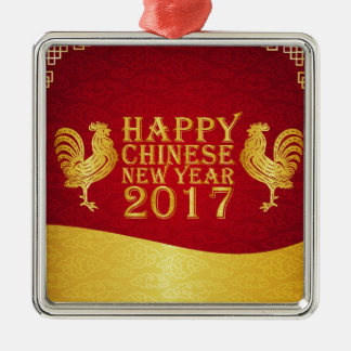 New Year Chinese Style 2017 Rooster Christmas Ornament