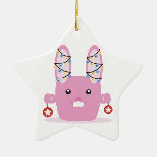 New year / Christmas bunny Christmas Ornament