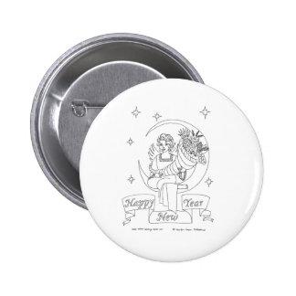 New Year Cornucopia 6 Cm Round Badge