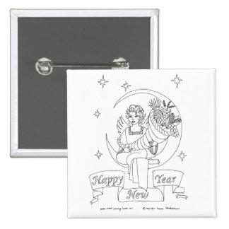 New Year Cornucopia 15 Cm Square Badge