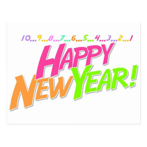 New Year Countdown Post Cards