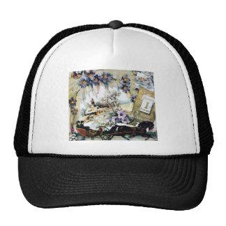 New Year Couple Horse House Flowers Victorian Art Trucker Hats