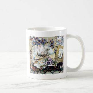 New Year Couple Horse House Flowers Victorian Art Coffee Mug