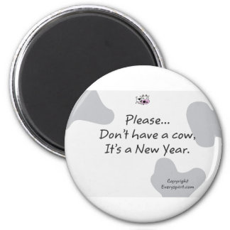New year Cow Items 6 Cm Round Magnet