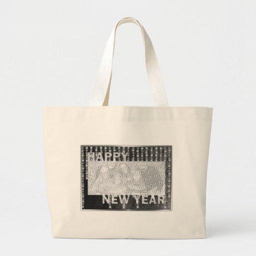 New Year Cut Out Photo Frame Rhinestones Bag