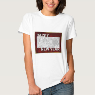 New Year Cut Out Photo Frame T Shirt