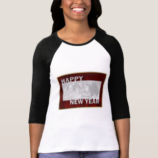 New Year Cut Out Photo Frame Shirts